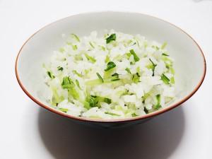 壬生菜(みぶな)の菜飯