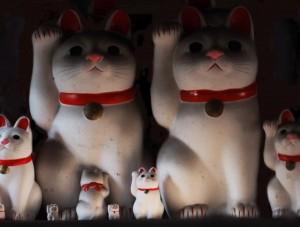 豪徳寺に祀られた招き猫。