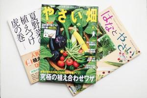「やさい畑」本誌と付録の夏野菜の植えつけ及び「はなとやさい」