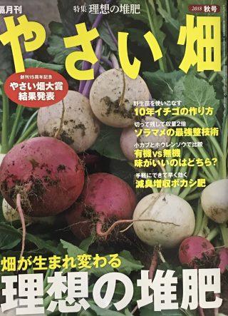 「やさい畑」秋号の記事監修・執筆